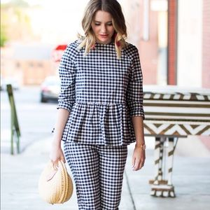 Victoria Beckham for Target gingham peplum top